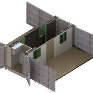 El contenedor - abierto