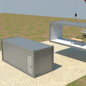 Los contenedores sin las paredes internas crean un gran espacio