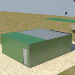 Los contenedores son conectados a la corriente eléctrica y se coloca un sistema de seguridad para obtener mayor protección