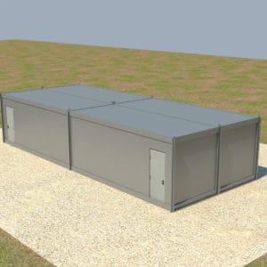 Instalación complete de 4 contenedores