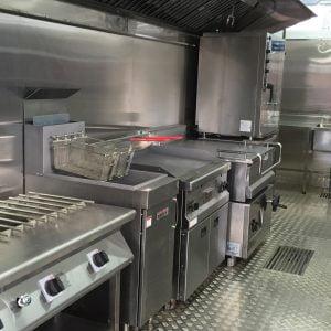El equipamiento de la cocina puede cambiarse según los requisitos de los cocineros.