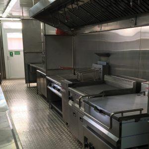 Equipamiento de una cocina industrial que puede proporcionar cientos de comidas calientes a diario
