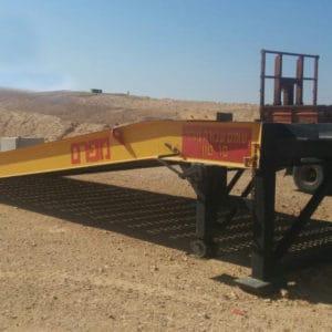 La rampa es utilizada por las Fuerzas de Defensa de Israel en las bases del sur. Diseñada para ser utilizada con montacargas, equipamiento mecánico, transportes blindados de personal, vehículos, camiones y otros equipos.