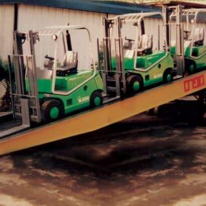 Los equipos pueden ser cargados y descargados exactamente donde sea necesario